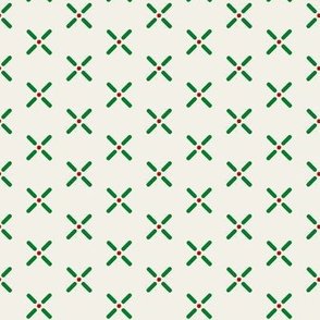 Cross_Dots___-green_and_red_on_offwhite