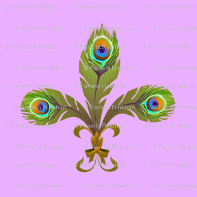 peacock fleurdelis pale orchid