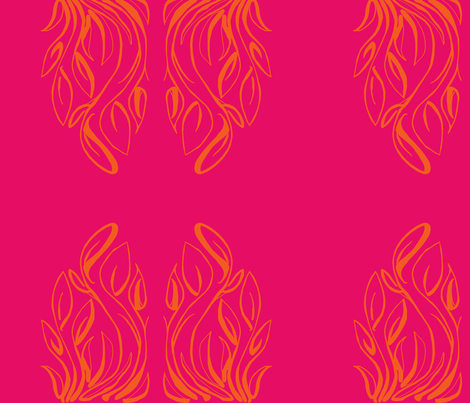 plants-shocking pink fabric by kcs on Spoonflower - custom fabric