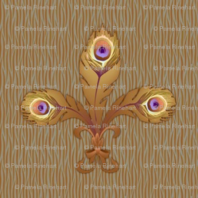 peacock fleur de lis 2 toast