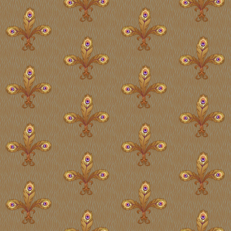 peacock fleur de lis 2 toast fabric by glimmericks on Spoonflower - custom fabric