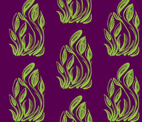 flor-radical green and purple fabric by kcs on Spoonflower - custom fabric