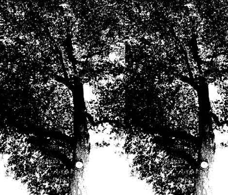 Black_Tree fabric by ancer on Spoonflower - custom fabric
