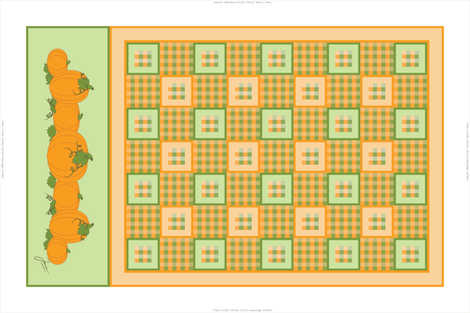 Pumpkin Patch Tea Towel fabric by jjtrends on Spoonflower - custom fabric