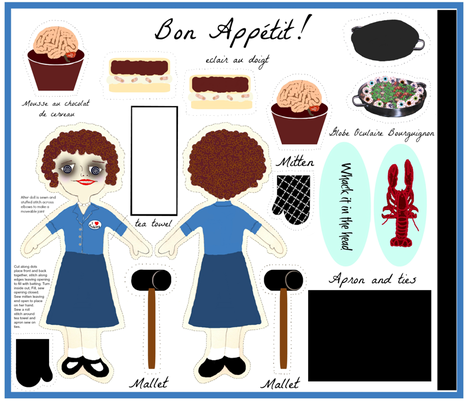 Bon Appetit my Love fabric by paragonstudios on Spoonflower - custom fabric