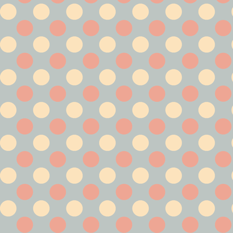 Marshmallow Polka fabric by wednesdaysgirl on Spoonflower - custom fabric