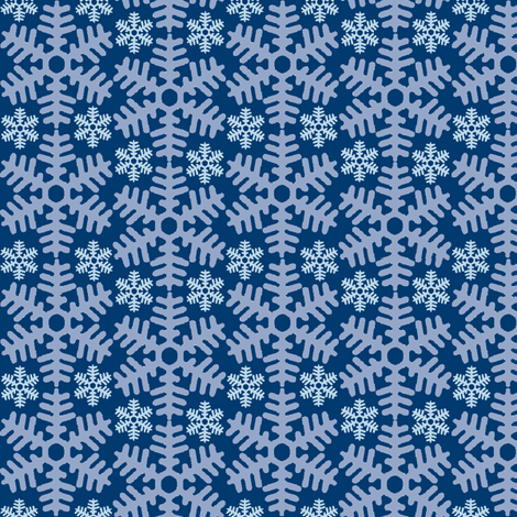 beneath a blanket of snow...(midnight) fabric by wednesdaysgirl on Spoonflower - custom fabric