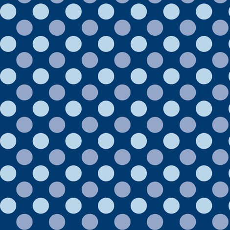 Midnight Polka fabric by wednesdaysgirl on Spoonflower - custom fabric