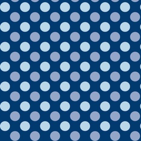 Midnight Polka fabric by wednesdaysgirl on Spoonflower - custom fabric