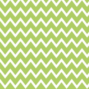 Animal Trails Lime Chevron