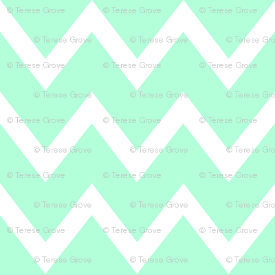 Animal Trails Blue Chevron