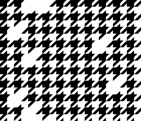 Houndstooth black&white fabric by kfay on Spoonflower - custom fabric