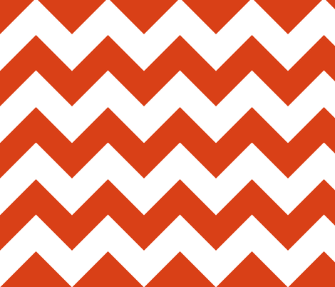 chevron persimmon fabric by christiem on Spoonflower - custom fabric