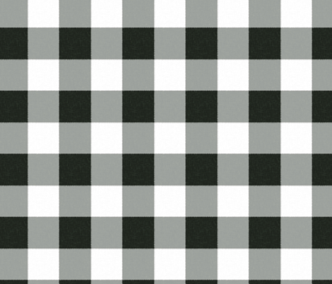 Buffalo Check in black fabric by domesticate on Spoonflower - custom fabric