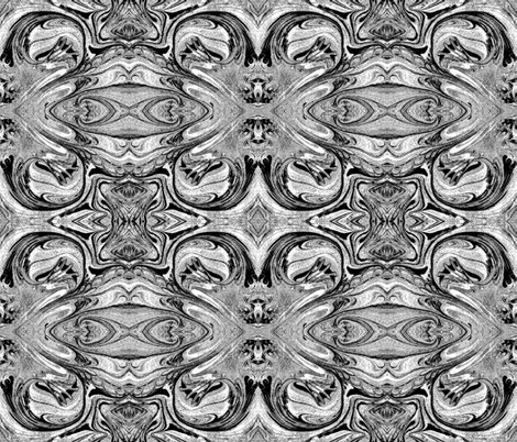 Black & White Marbled Paper w/Shades of Gray fabric by anniedeb on Spoonflower - custom fabric