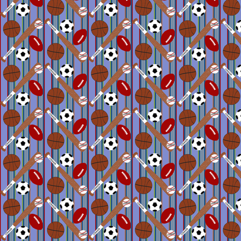 Sports Equipment-Personalized fabric by cksstudio80 on Spoonflower - custom fabric