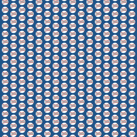 Baseball Americana - Personalized fabric by cksstudio80 on Spoonflower - custom fabric