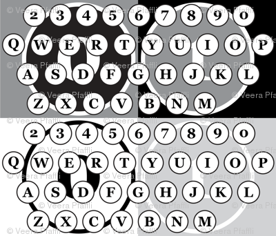 typewriter number letter keys pattern