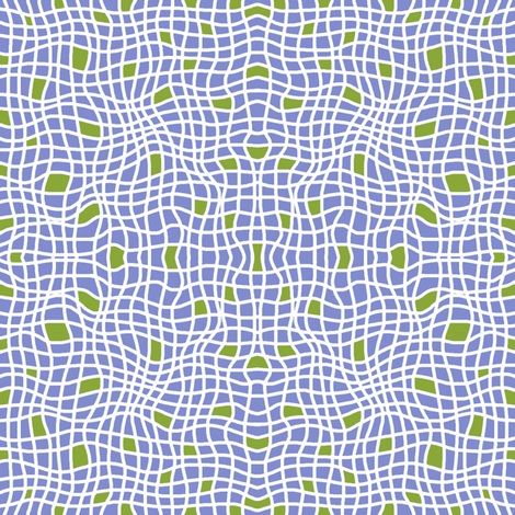 Wavy Plaid with Green fabric by cksstudio80 on Spoonflower - custom fabric