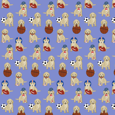 Sports Pups fabric by cksstudio80 on Spoonflower - custom fabric