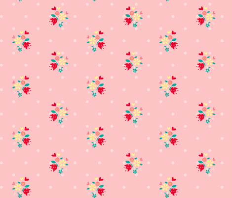 Cute_smaller_flowers_ fabric by cyntia_abrigo on Spoonflower - custom fabric