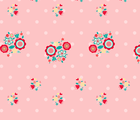 Cute_flower fabric by cyntia_abrigo on Spoonflower - custom fabric