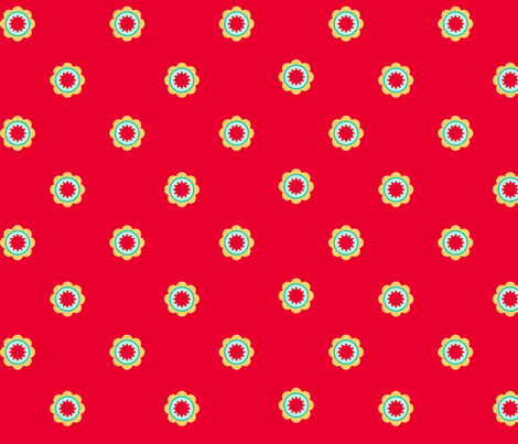Cute_flower_red fabric by cyntia_abrigo on Spoonflower - custom fabric