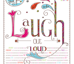 2014 Calendar: Laugh Out Loud - © Lucinda Wei