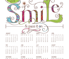 2016 Calendar: Smile and Pass it On - © Lucinda Wei