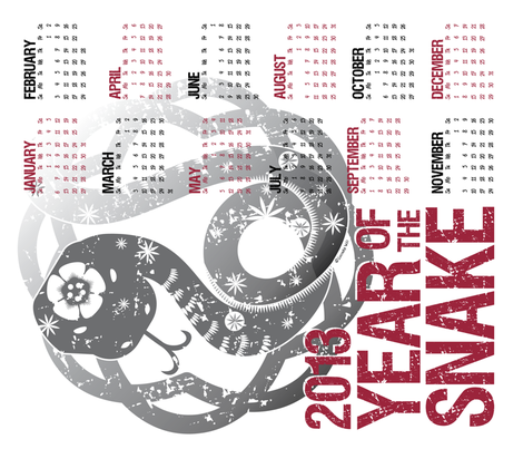 2013 Calendar: Year of the Snake