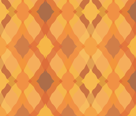 Fun Ogee - Pumpkin fabric by owlandchickadee on Spoonflower - custom fabric
