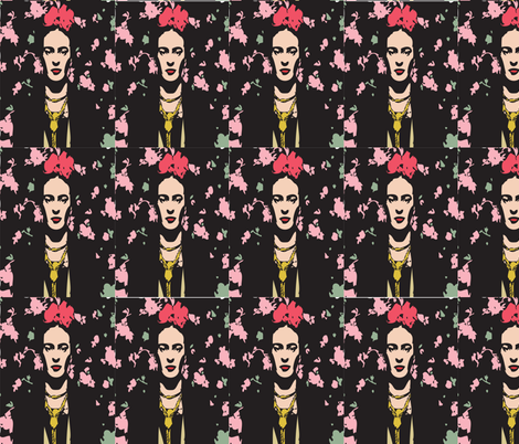 Frida Kahlo fabric by danielchloe on Spoonflower - custom fabric