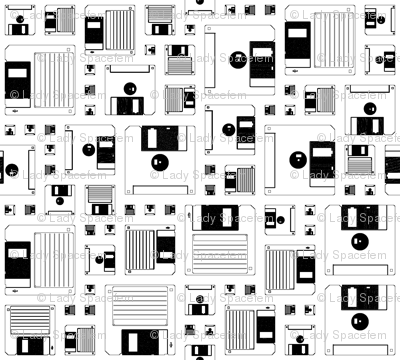Disk pattern white