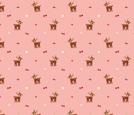 Delightful Deer fabric by bobbifox on Spoonflower - custom fabric