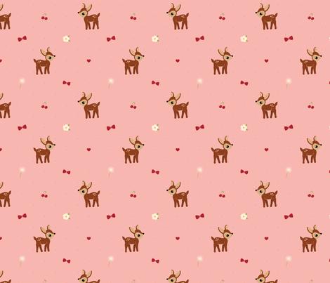 Delightful Deer fabric by bobbifox on Spoonflower - custom fabric