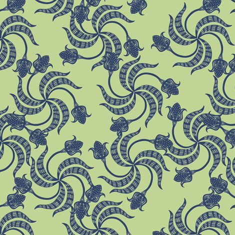 Rrrtrinity_tulips_navy_on_green_shop_preview