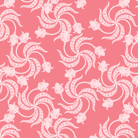 trinity_tulips_pinks fabric by glimmericks on Spoonflower - custom fabric