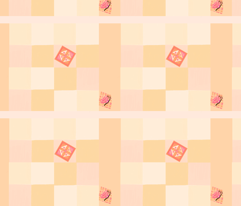 nursery pink pastels patchwork quilt fabric by mojiarts on Spoonflower - custom fabric