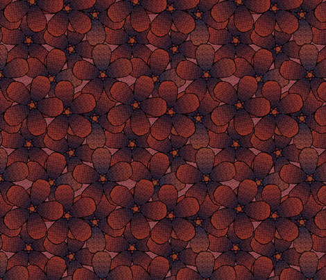 woven_flowers-fall fabric by glimmericks on Spoonflower - custom fabric