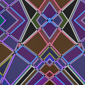 Large colorful line grid