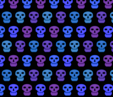 Blacklight Skulls fabric by katarra on Spoonflower - custom fabric