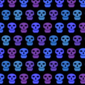 Blacklight Skulls