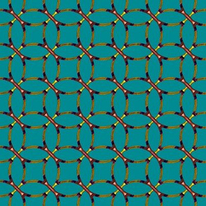 Woven Grille on Teal