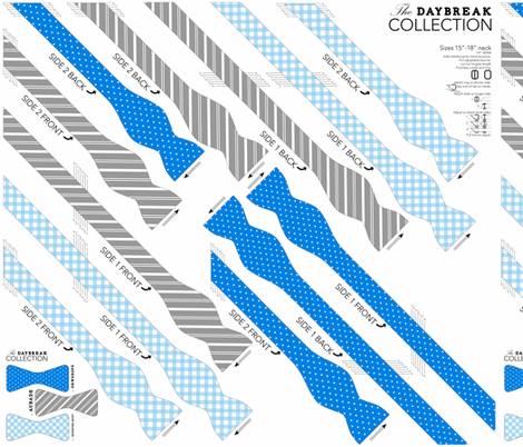 BOWTIE DIY: Daybreak Collection fabric by avelis on Spoonflower - custom fabric
