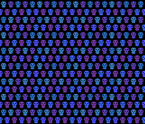 Blacklight Skulls (Small) fabric by katarra on Spoonflower - custom fabric