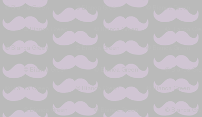 Mustache Pattern (rose)