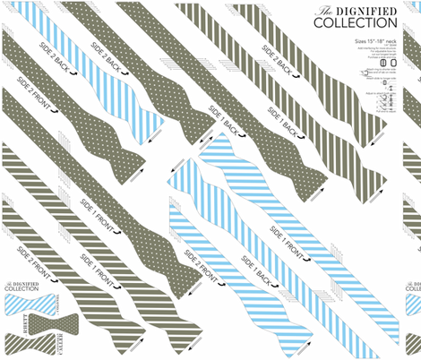 BOWTIE DIY: Dignified Collection fabric by avelis on Spoonflower - custom fabric