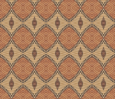 Basketweave 7 fabric by greennote on Spoonflower - custom fabric