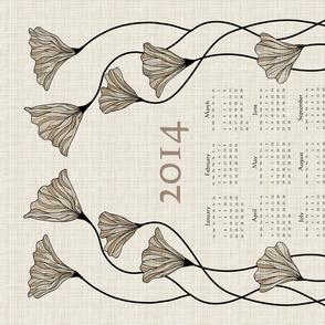 2014 Neutral Linen Calendar