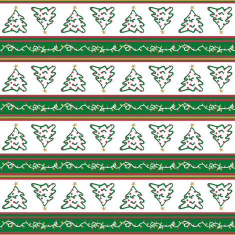 Merry Little Christmas fabric by tallulahdahling on Spoonflower - custom fabric